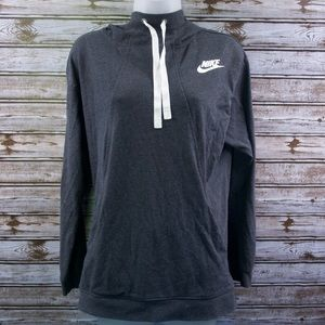 Nike Women's Gray Charcoal Pullover Hoodie Large